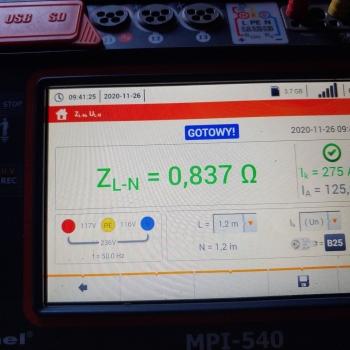 Pomiar impedancji pętli zwarcia